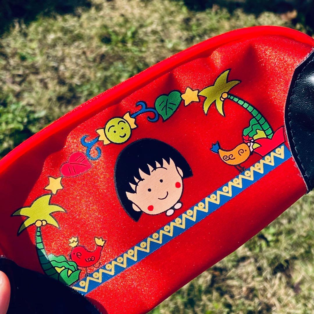 Vintage Japan Chibi Maruko Chan and Minnie Mouse pencil case