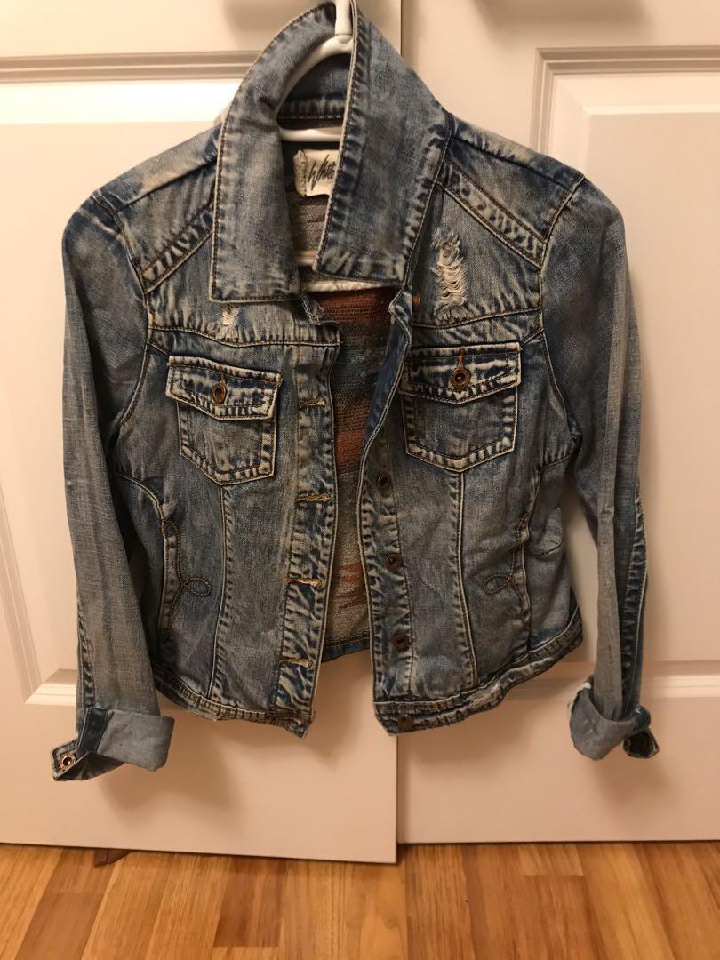 White crow jean jacket