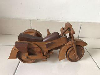 Wooden Motorcycle Statue