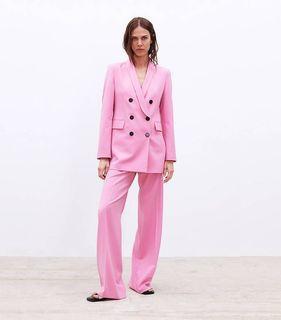 Zara pink blazer set