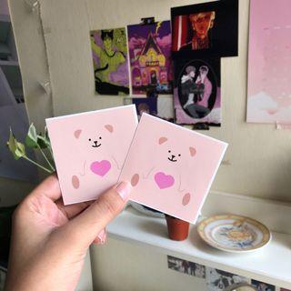 Zeki bear Mini Bear Sticker (korean stationery)