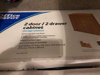 2 door/ 2 drawer cabinet