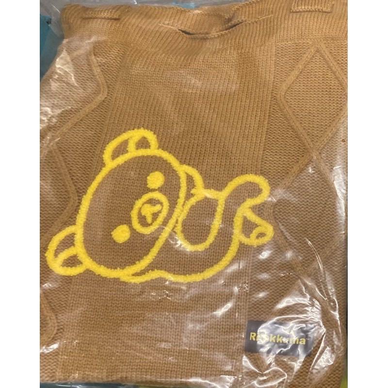 小熊學校系列-針織手提袋咖啡色