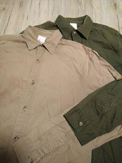 兩件一起賣 時尚 襯衫 男版 尺寸M