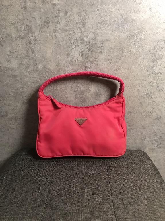 【♥ 琳琳私物 ♥】PRADA ◌ 桃紅hobo腋下袋