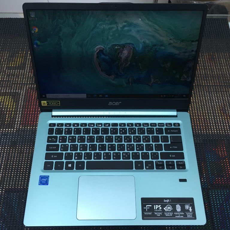 售Acer SF114-32-C0KE N4100 14吋 4G 256G SSD 綠色 保內 筆電