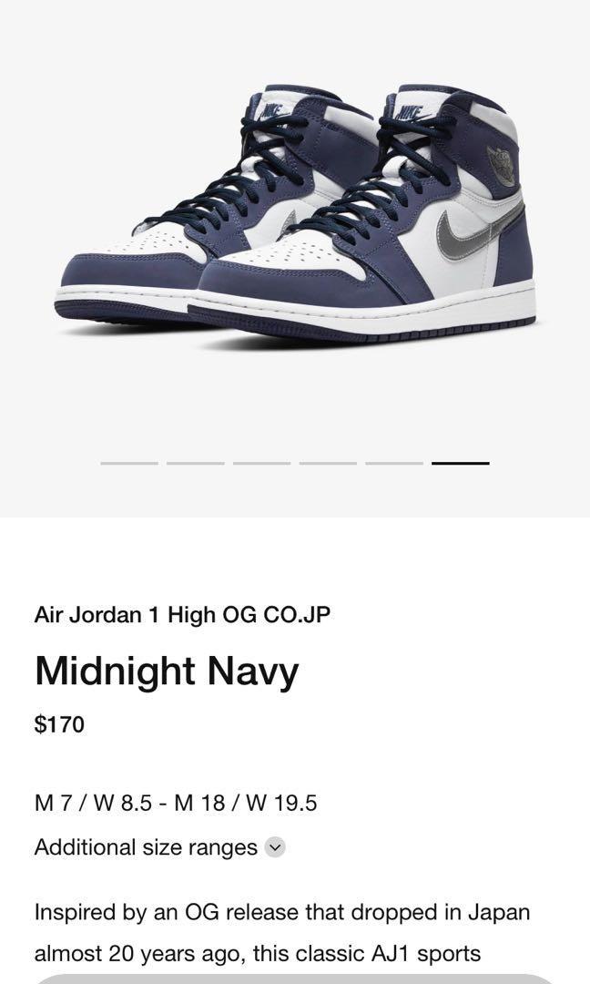 Air Jordan 1 CO.JP midnight navy