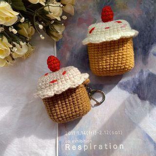 客製化Airpods針織保護套 草莓杯子蛋糕🧁