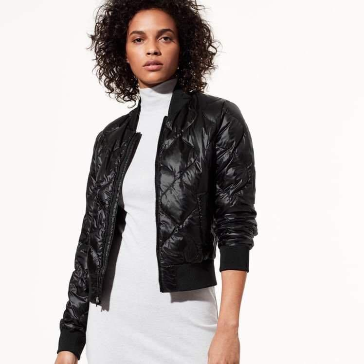 Aritzia TNA league puffer bomber jacket