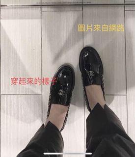 Chanel漆皮樂福鞋