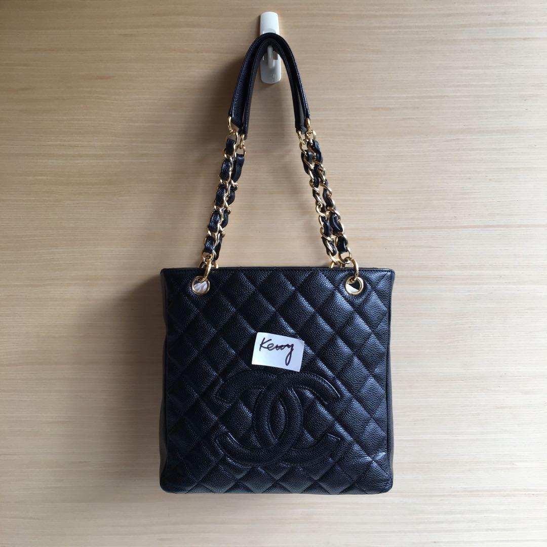 Chanel PST黑色金鏈豆腐包(小)