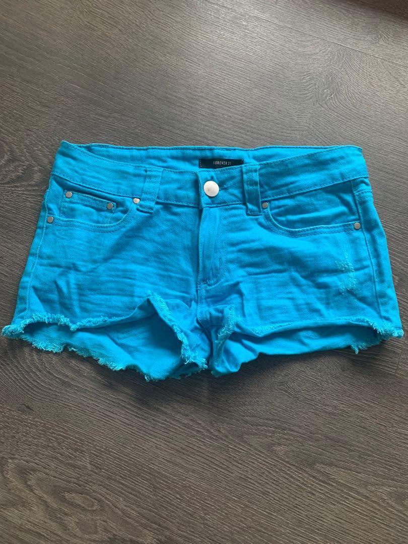 Forever 21 size 26 blue shorts
