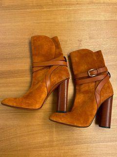 🛍特價🛍 GUCCI 棕色麂皮短靴 40號