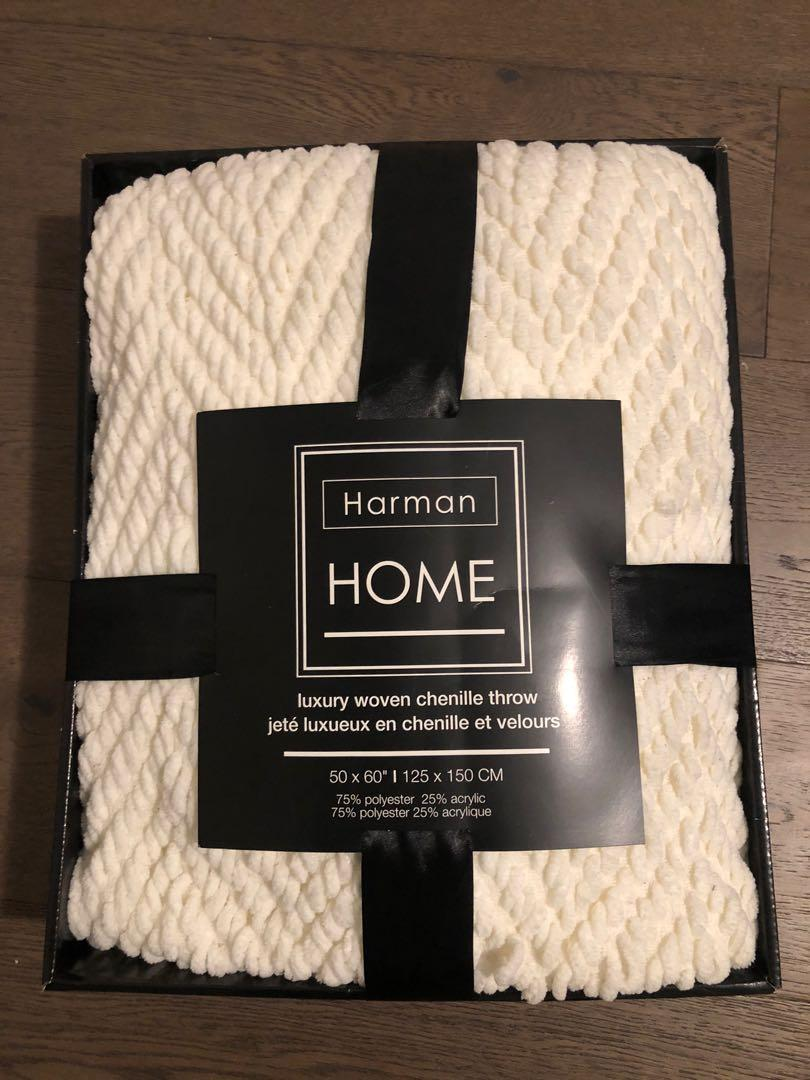 Harman home woven throw