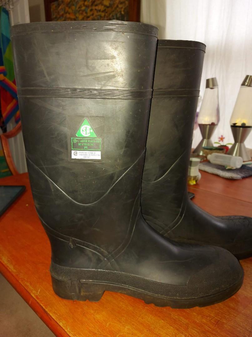 High steel toe boots