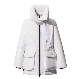+J系列Uniqlo聯名極簡大師Jil Sander優衣庫Hybrid羽絨短大衣,白色L號