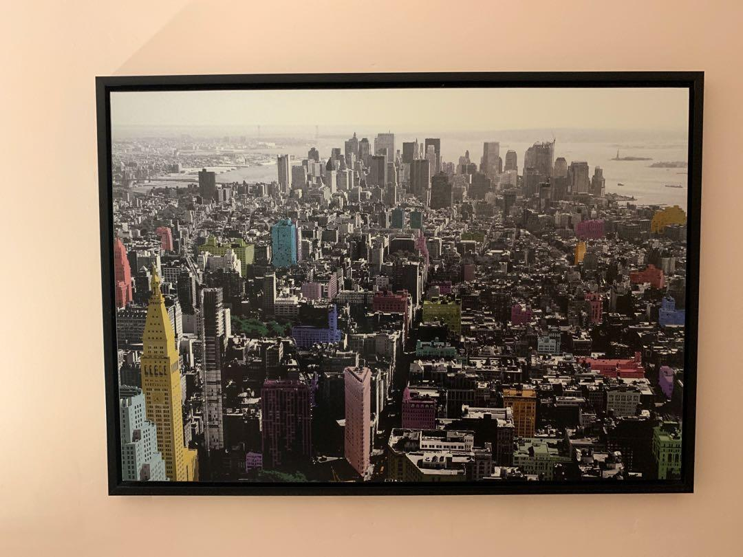 Large Canvas Painting - New York