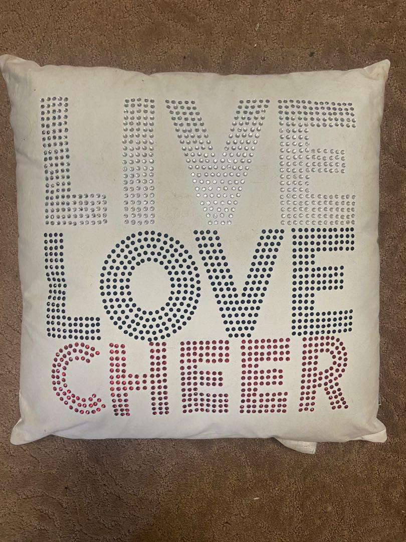 Live Love Cheer pillow