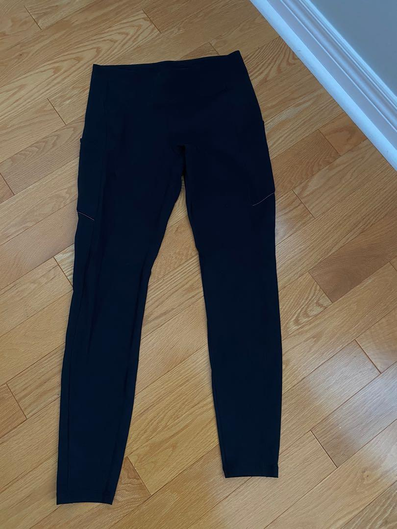 Lululemon Fast and Free Leggings with Pockets - Black, Size 6