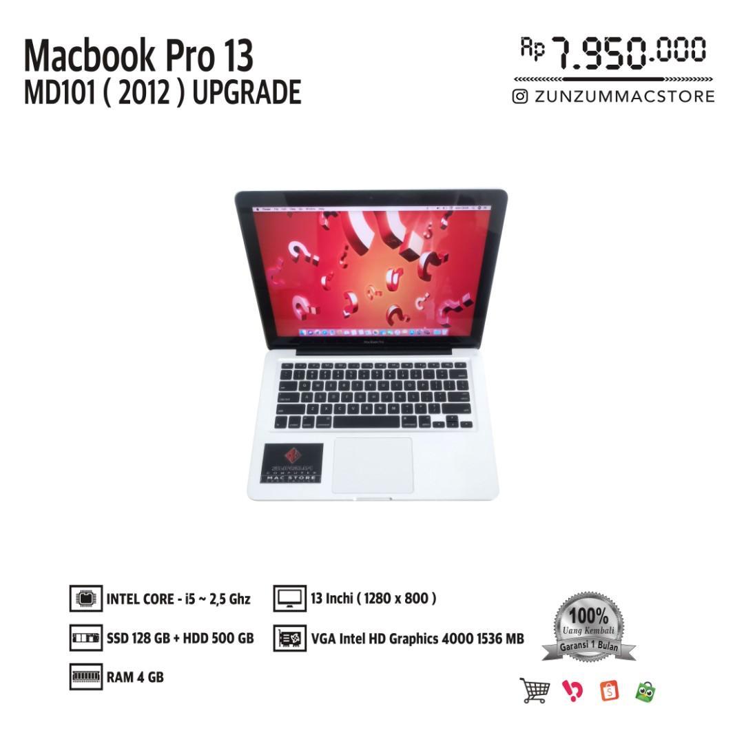 Macbook Pro 13 MD101 Upgrade MID 2012 Core i5 Ram 4 GB SSD 128 GB HDD 500 GB Like New