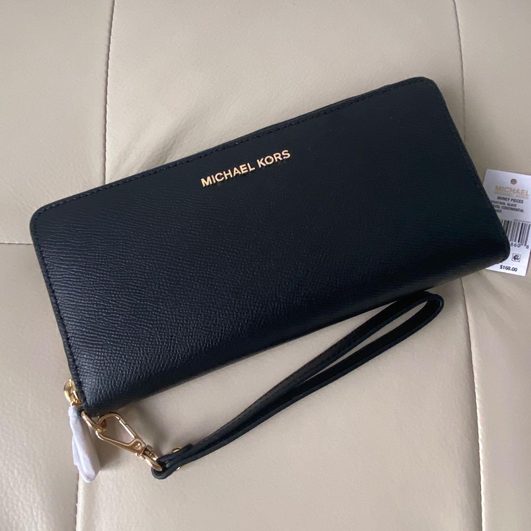 Michael Kors Black Continental Leather Wallet