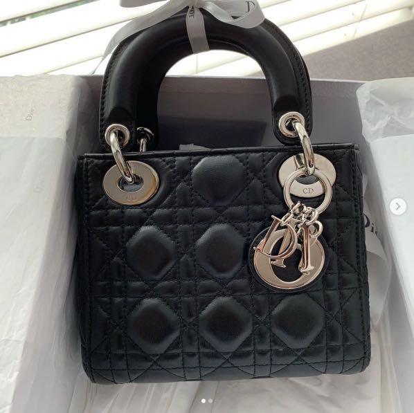 Mini Lady Dior bag 黑色 80%new $9000