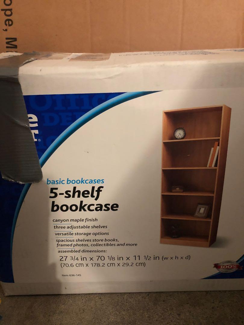 New- 5 shelve book case