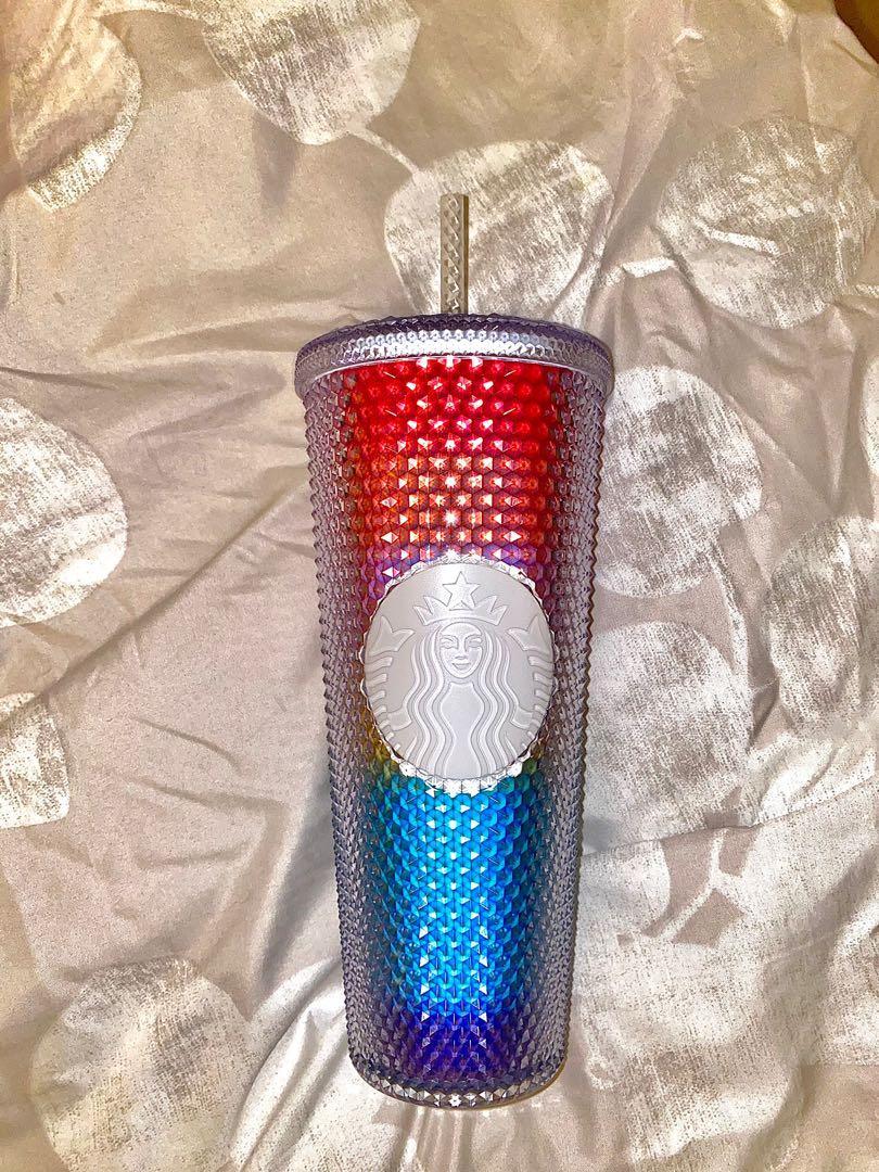 New Starbucks Rainbow Studded 24oz Tumbler Cup