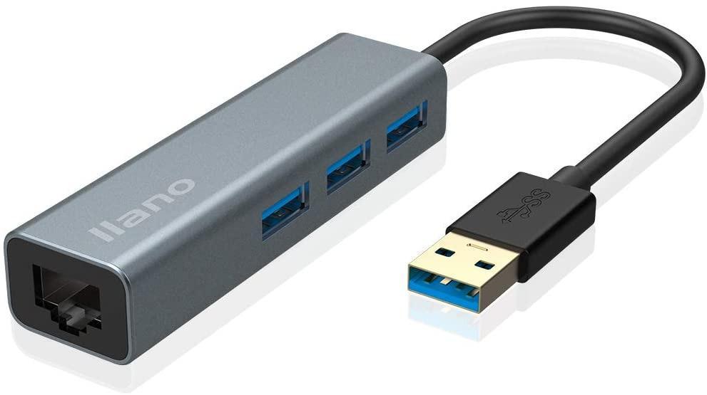 USB 3.0 to Ethernet Adapter 3-Port USB 3.0 to RJ45 Gigabit 10//100//1000 Gigabit Ethernet Adapter Converter LAN Wired LAN for Ultrabooks,Notebooks,Tablets