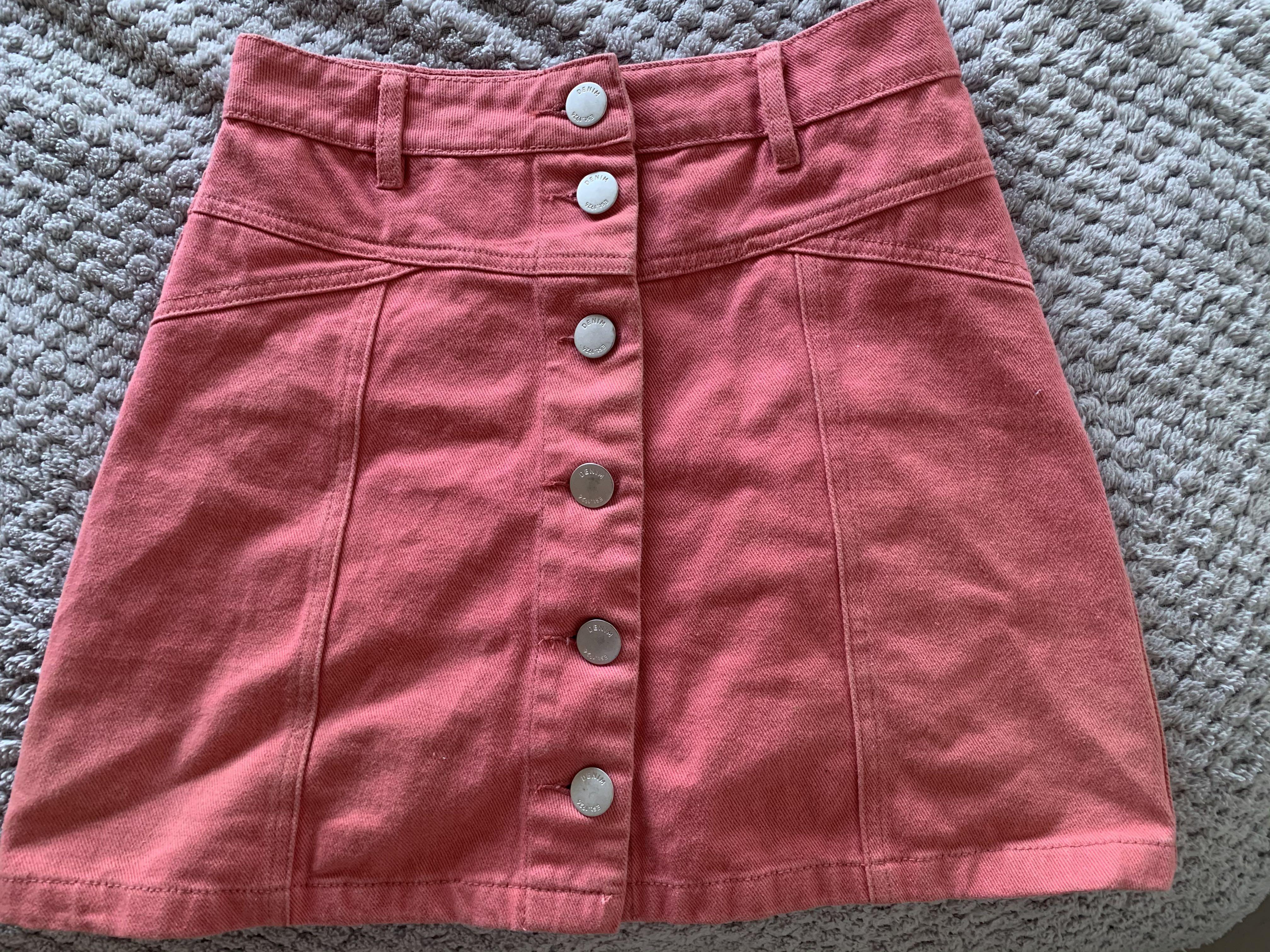 Pink denim skirt- Glassons
