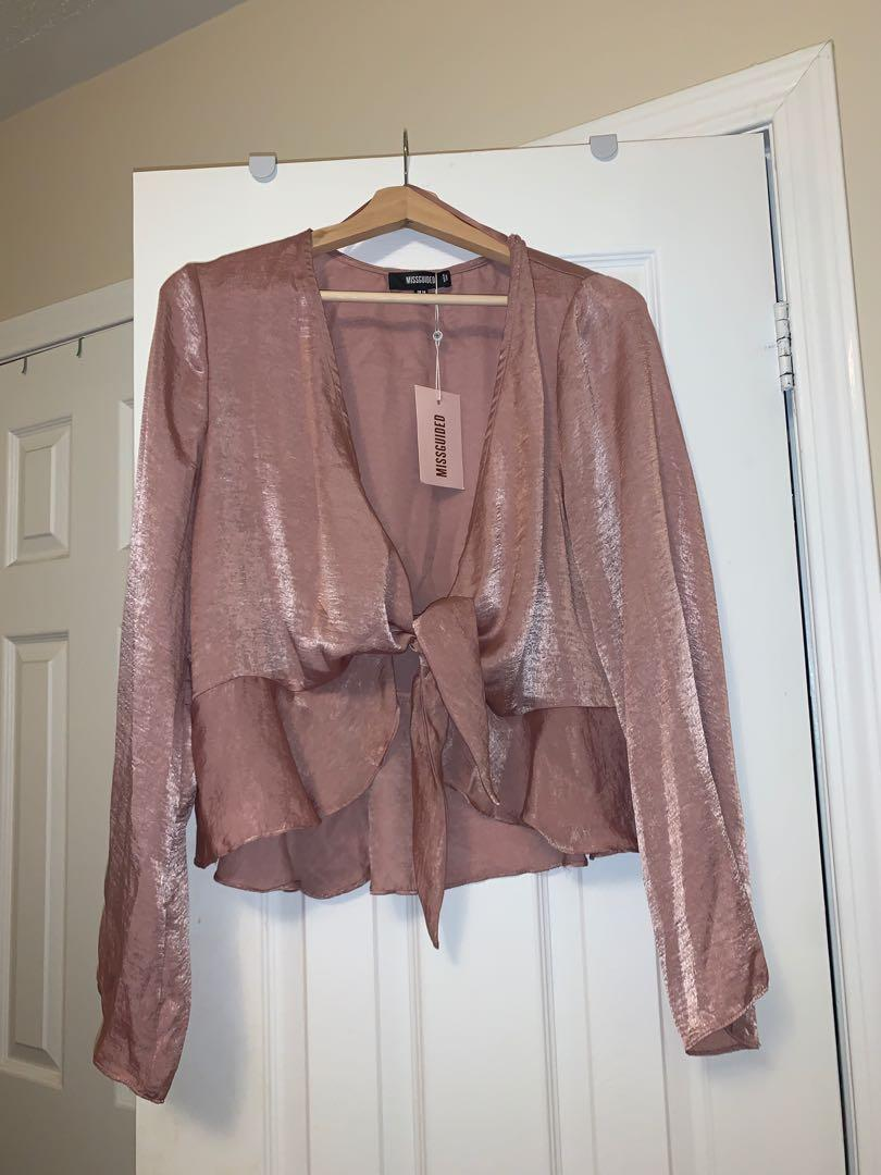 pink peplum blouse
