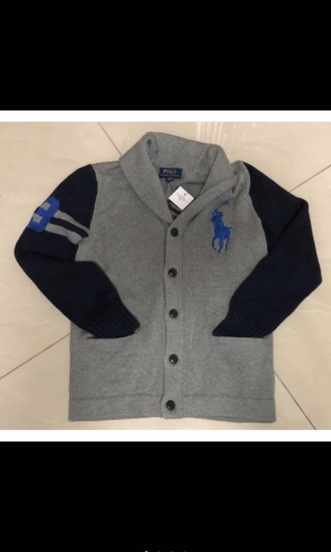 Ralph Lauren 經典大馬 棉質厚磅數外套款大童M號 全新商品