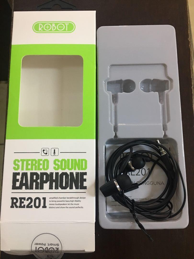 robot earphone stereo