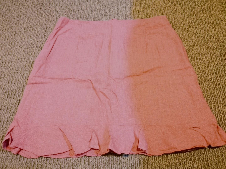 Rose Pink Glassons Bottom Flare Skirt