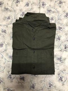 Uniqlo水洗軍綠外套