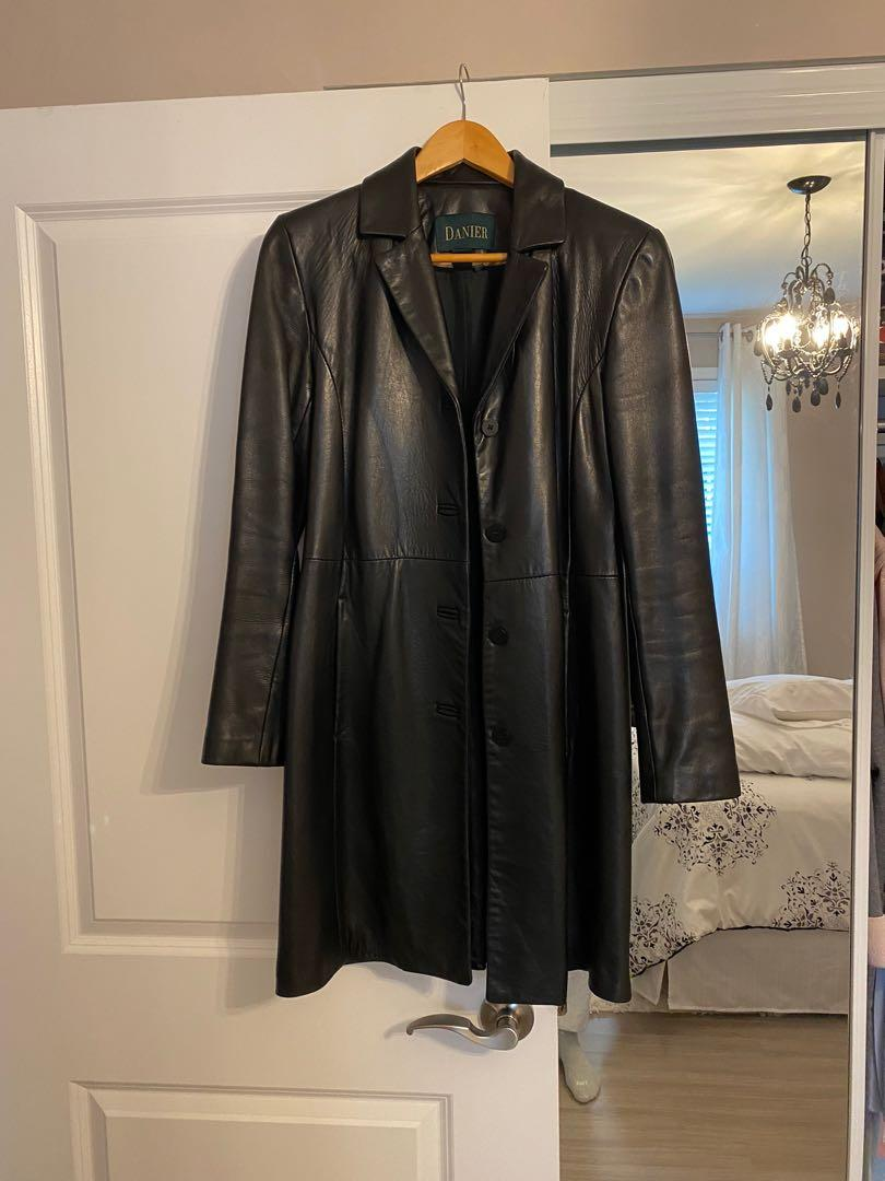Vintage Danier Leather Trench Coat
