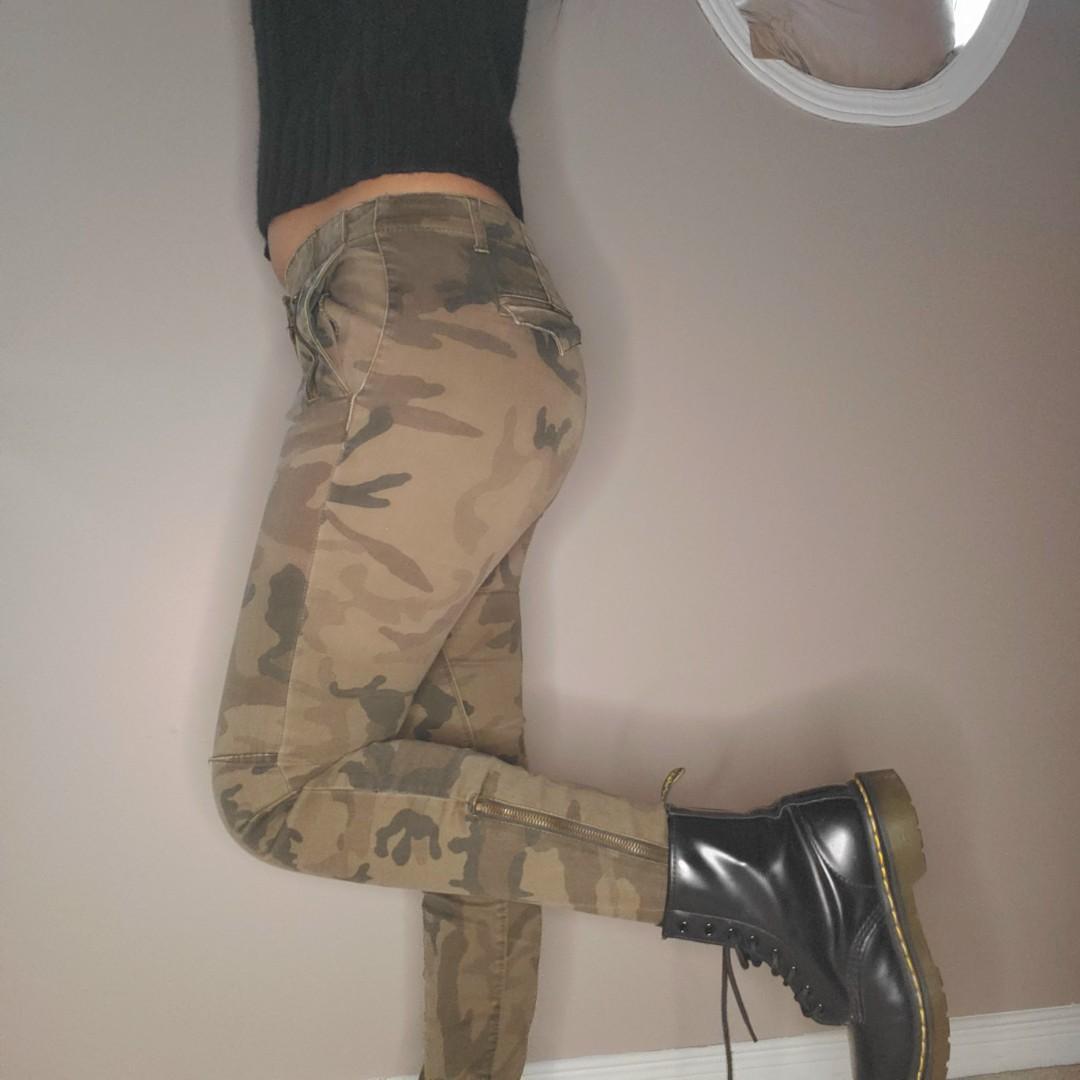 Zara army print skinny jeans