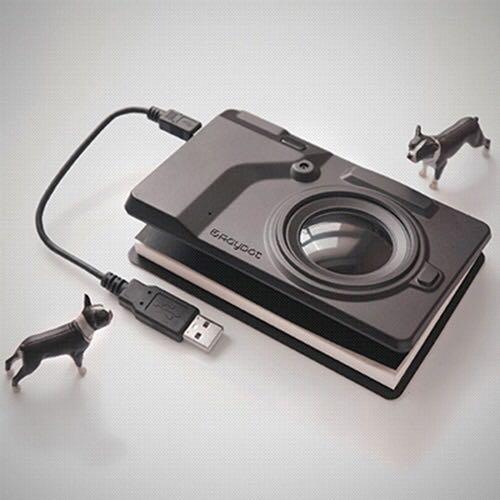 能拍照的相機筆記本