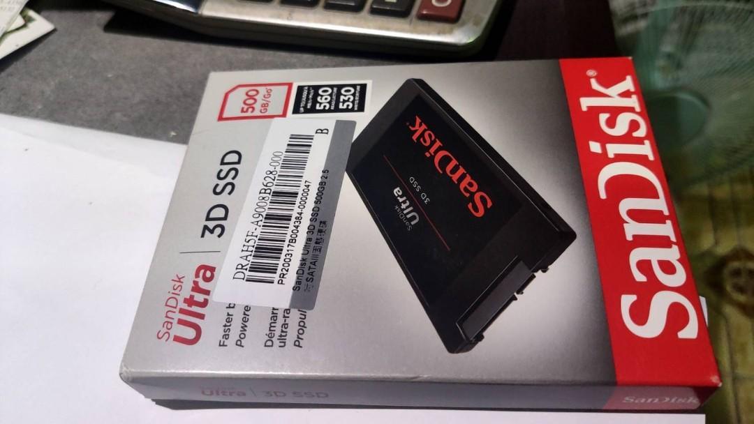 送咖啡 SANDISK 500G 2.5 固態硬碟 SATA 非 WD INTEL 創見