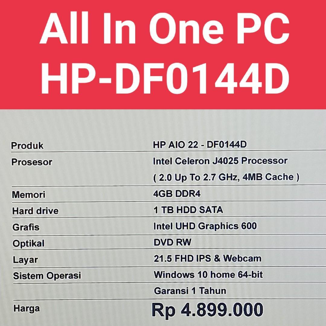 All In One desktop HP-DF0144D