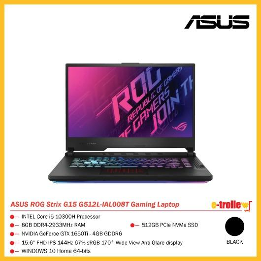 Asus Rog Strix G15 G512l Ial008t Gaming Laptop Black Electronics Computers Laptops On Carousell