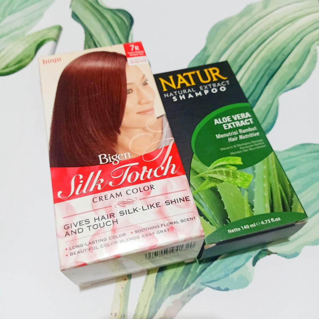 Bigen silk touch cream color + natur shampoo aloe vera