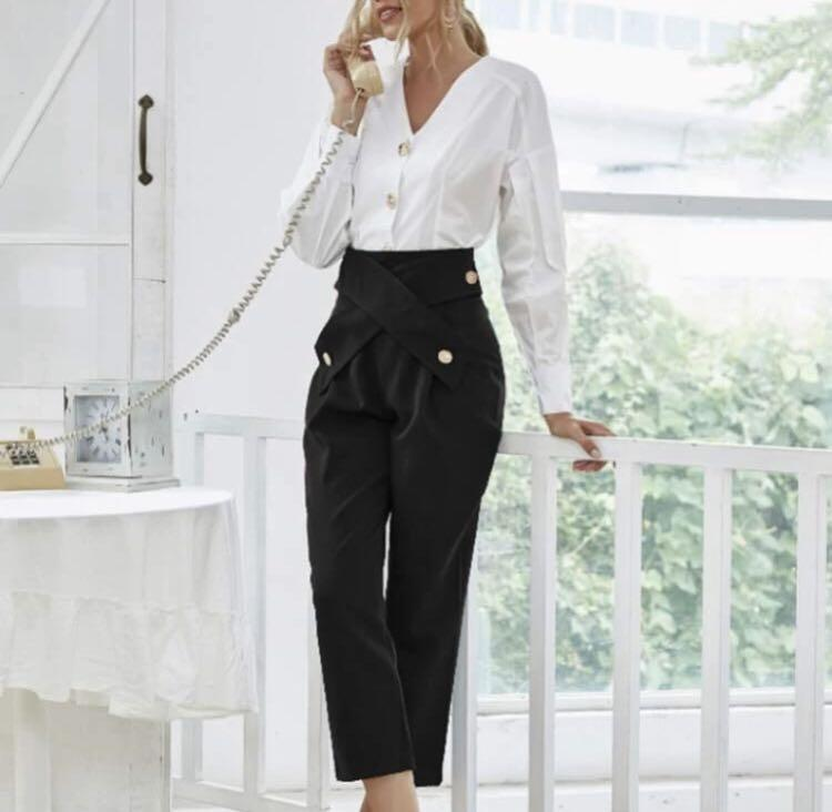 Button up blouse & Tailored pants