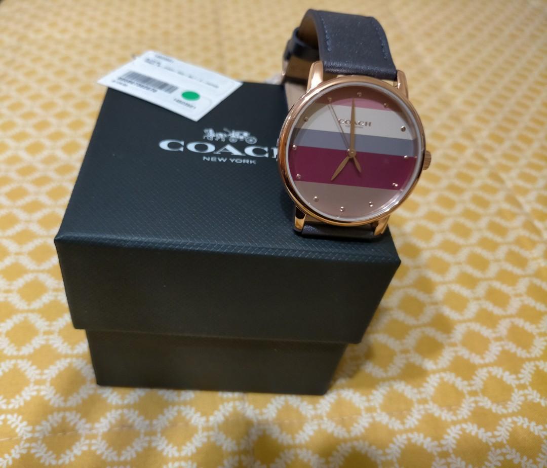 條紋coach 手錶