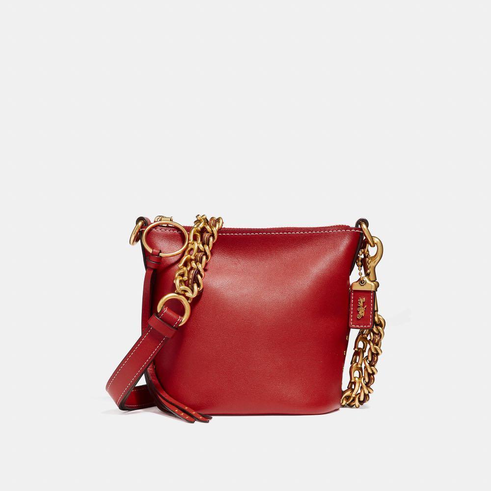 Coach Leather Duffle 12 Chain Bag