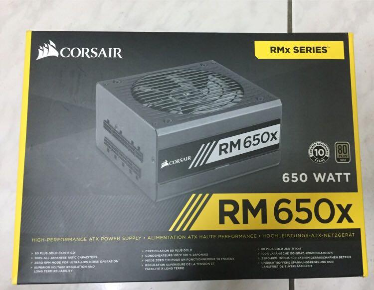 CORSAIR RM650X | 80 PLUS (GOLD)