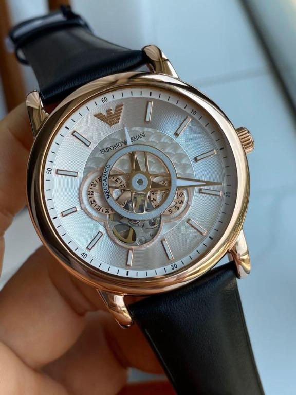 🌈🌈🌈新款!️emporio Armani阿瑪尼時尚潮流鏤空機械男錶AR60013錶盤直徑43mm,3⃣️色齊全