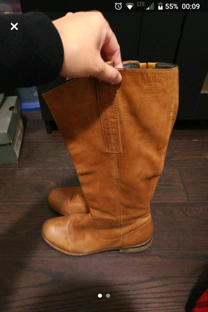 HIBOU Brown Riding Boots