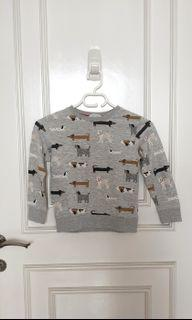 H&M dogs sweater 4-6th