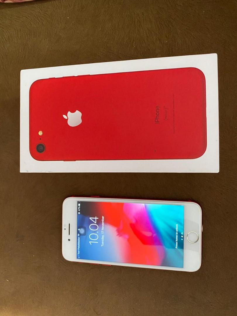Iphone 7 32gb red merah fullset